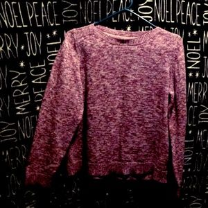 Pink Knitted Pullover Sweater